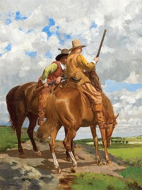 Plainsmen On Horseback - The Scouts