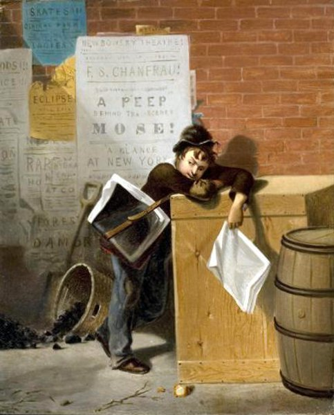 The Weary Newsboy