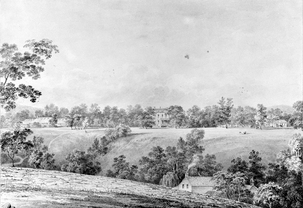 View Of The David Hosack Estate, Hyde Park, New York, From The East