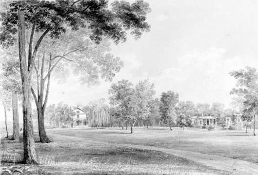 View Of The David Hosack Estate, Hyde Park, New York, From The South