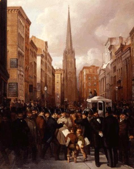 Wall Street, Half Past 2 O'Clock, October 13, 1857 (with Charles G. Rosenberg)
