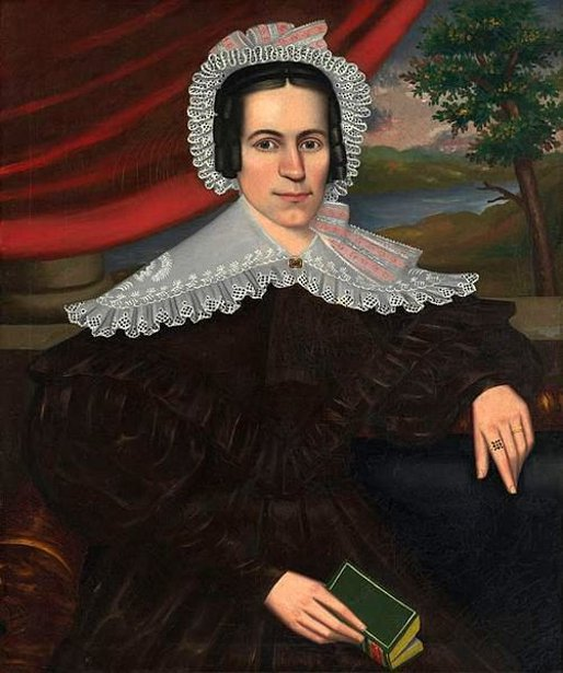 Woman With A Green Book (possibly Louisa Gallond Cook)