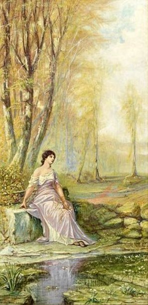 Wooded Landscape With Nymph