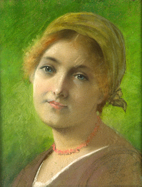 Young Woman With Scarf