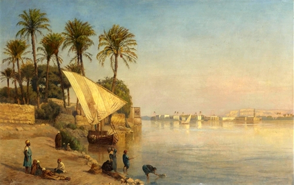 A View On The Nile Near Cairo