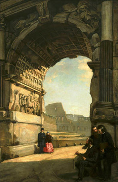Arch of Titus (with Frederic E. Church and Jervis McEntee)