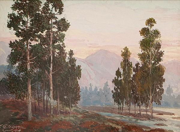 California Eucalyptus Landscape