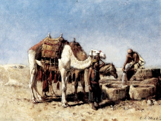 Camels At A Well, Tangiers