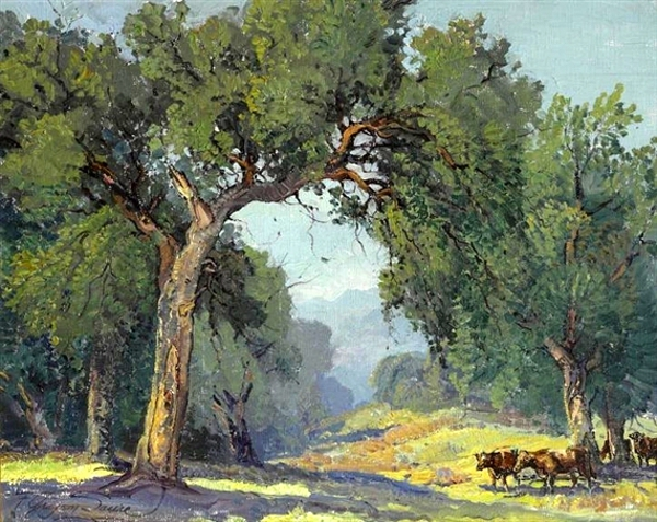 Cattle Under The Trees