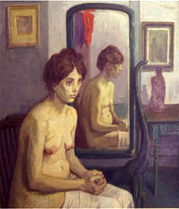 Cynthia Nude Before A Mirror