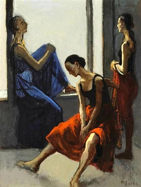 Dancers Against A Window