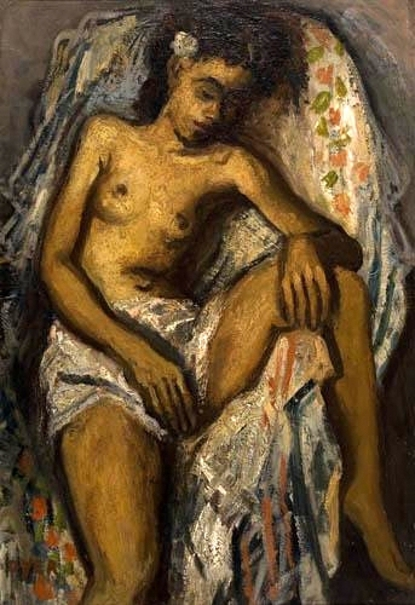Draped Female Nude