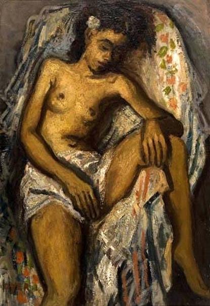 Draped Female Nude