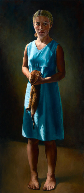 Girl With A Mink Pelt