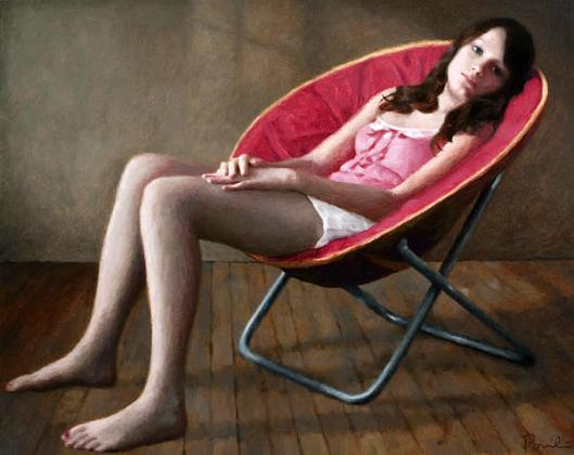 Haley In A Round Chair