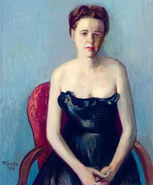 Lady In A Black Evening Dress