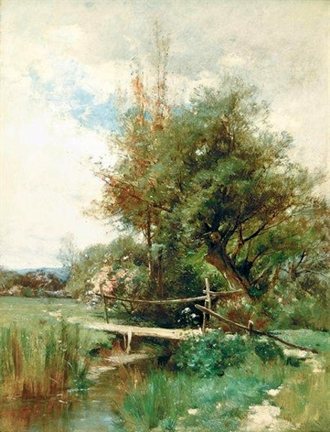Landscape With Footbridge