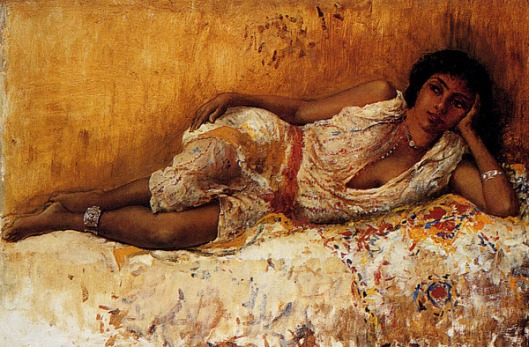 Moorish Girl Lying On A Couch, Rabat, Morocco