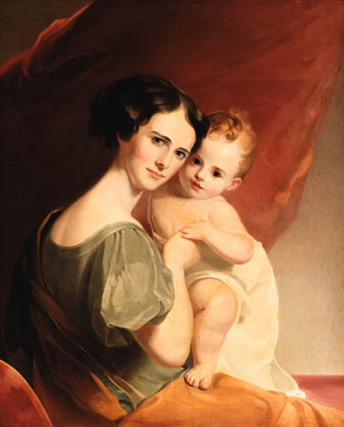 Mrs. John Mason And Her Son