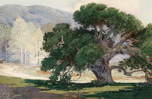 Oak Tree In A Landscape
