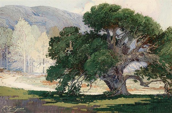 Oak Tree In A Landscape