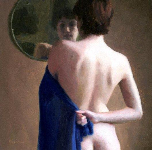Sara In A Round Mirror