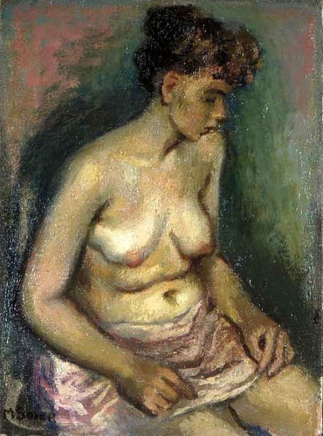 Seated Female Nude In Profile