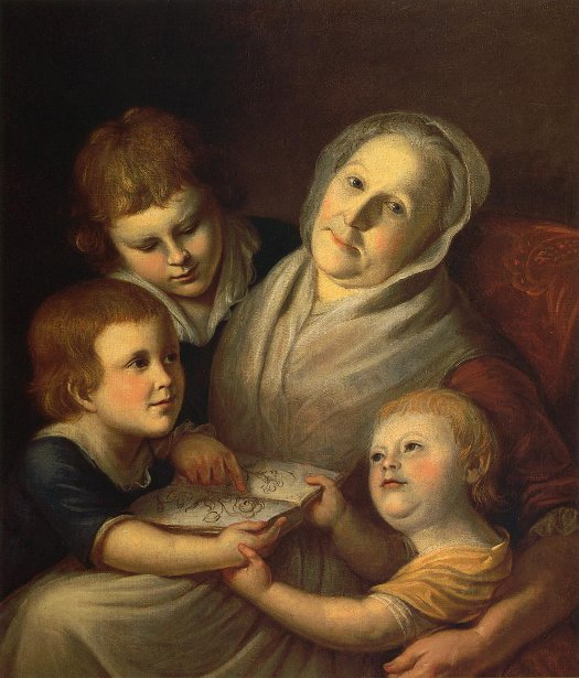 The Artist's Mother And Her Grandchildren