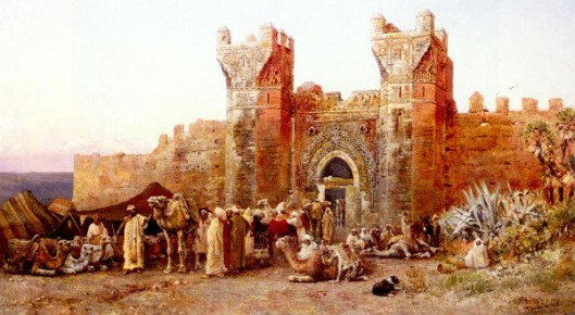 The Departure Of A Caravan From The Gate Of Shelah, Morocco