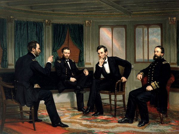 The Peacemakers (Ulysses Grant, William Sherman, Abraham Lincoln, David D. Porter)