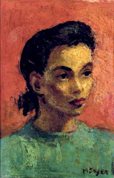 Woman In A Blue Shirt