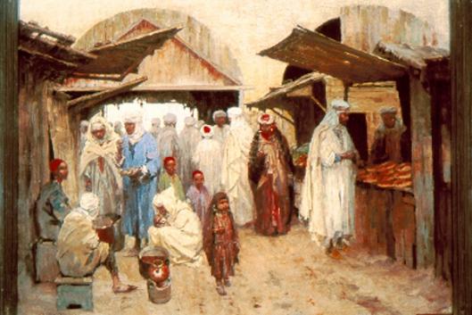 A Market In Biskra, Algeria