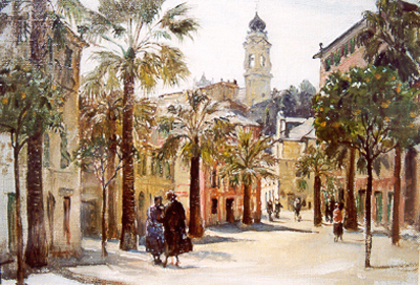 A Square At Santa Margherita