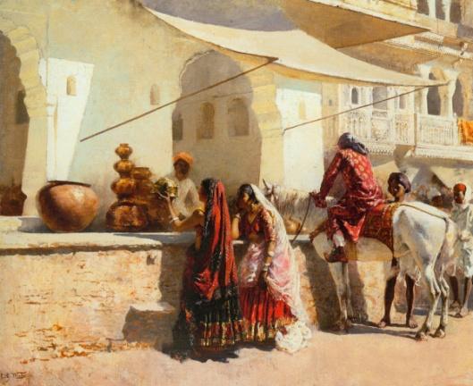 A Street Market Scene, India
