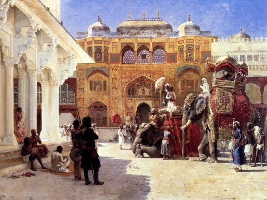 Arrival Of Prince Humbert, The Rajah, At The Palace Of Amber