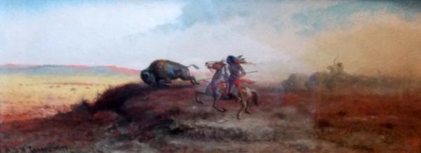 Buffalo Hunt (courtesy of Mr. Edward Peterson)