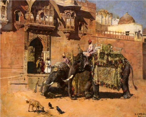 Elephants At The Palace Of Jodhpore