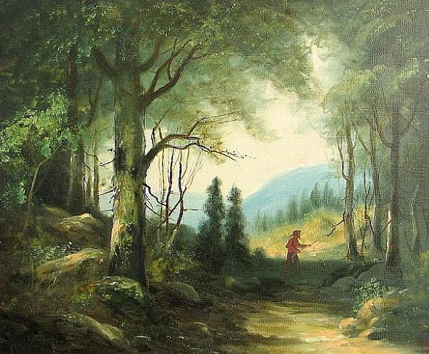 Hunter In A Forest