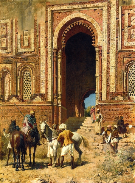 Indian Horsemen At The Gateway Of Alah-ou-din, Old Delhi