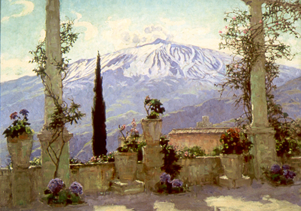 Mt. Etna From Taormina, Sicily