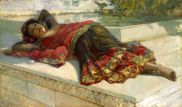 Nautch Girl Resting