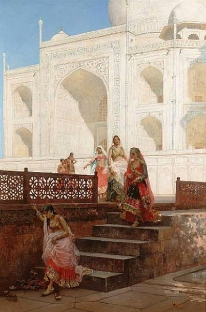 Nautch Girls Emerging From The Taj Mahal