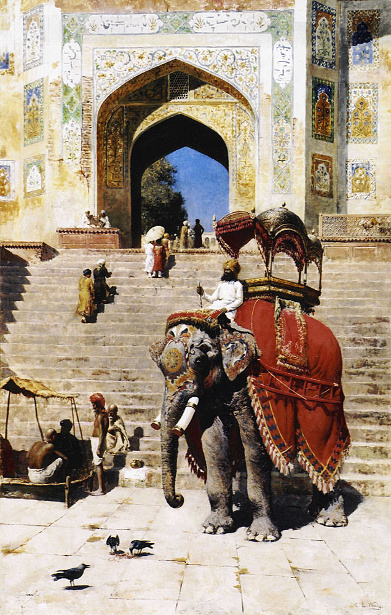Royal Elephant At The Gateway To The Jami Masjid, Mathura