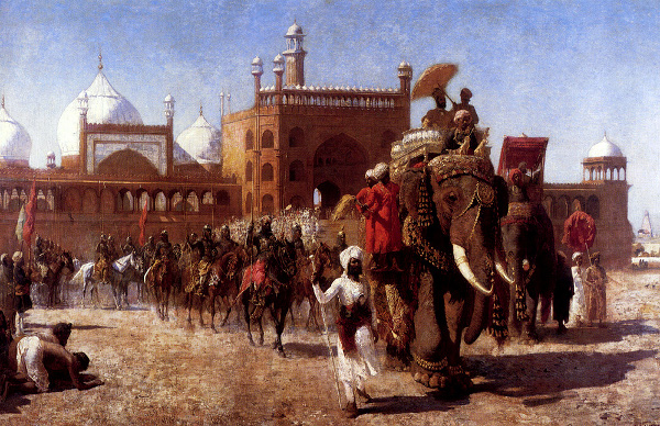 The Return Of The Imperial Court From The Great Mosque At Delhi, In The Reign Of Shah Jehan