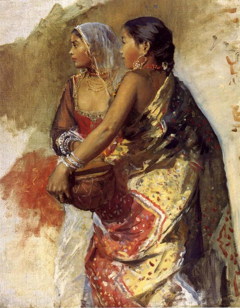Two Nautch Girls, Sketch