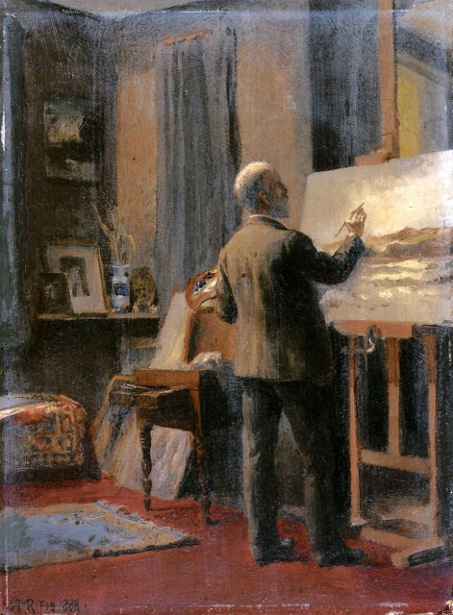 William Trost Richards In His Studio