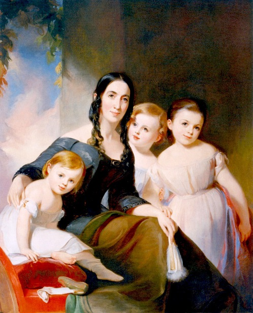 Mrs. James Robb And Her Three Children