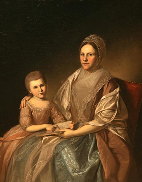 Mrs. Samuel Mifflin And Her Granddaughter, Rebecca Mifflin Francis