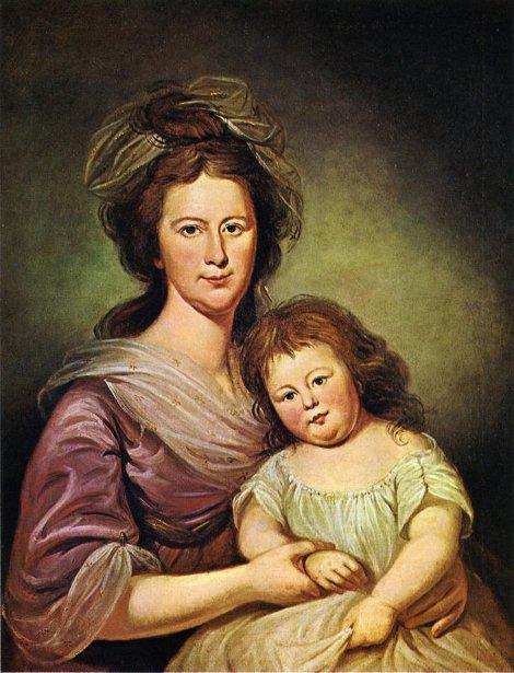 Mrs. Thomas Leiper And Her Daughter, Helen Hamilton Leiper