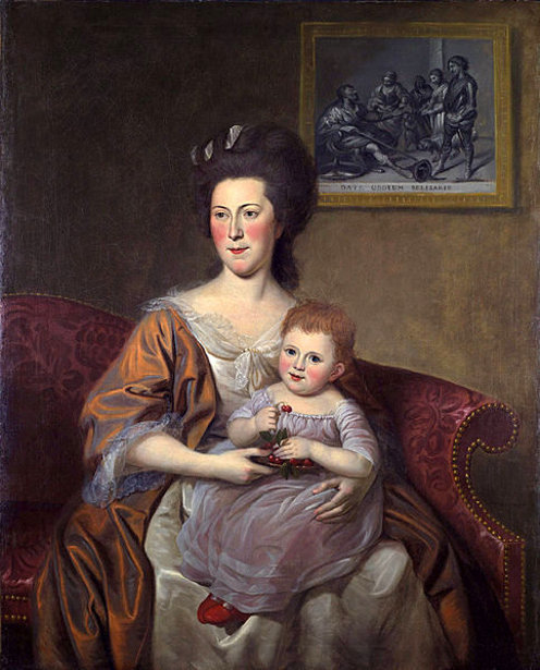 Mrs. Thomas Mckean (Sarah Armitage) And Her Daughter, Maria Louisa
